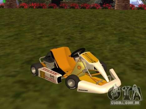 Kart per XiorXorn para GTA San Andreas esquerda vista