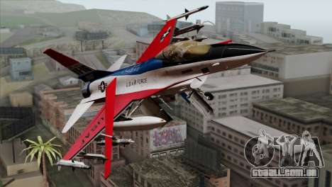 YF-16 Fighting Falcon para GTA San Andreas