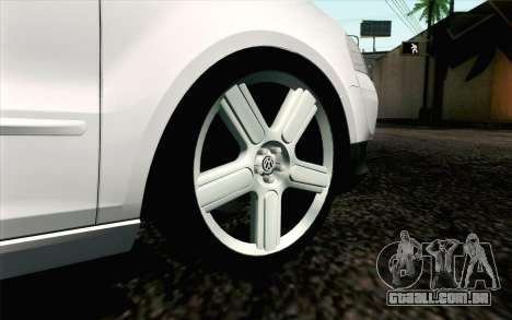 Volkswagen Fox para GTA San Andreas traseira esquerda vista