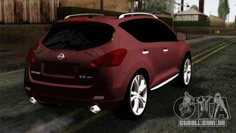 Nissan Murano 2008 para GTA San Andreas esquerda vista