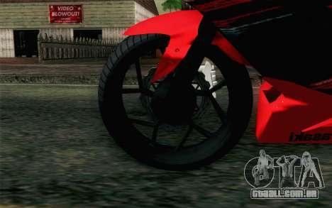 Kawasaki Ninja 250RR Mono Red para GTA San Andreas traseira esquerda vista