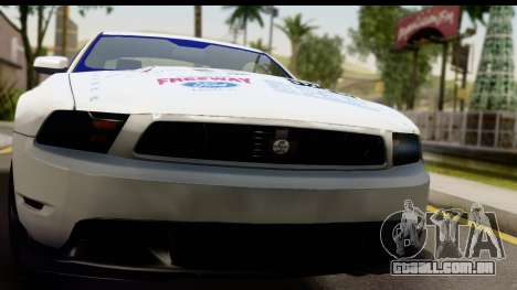 Ford Mustang 2010 Cobra Jet para GTA San Andreas traseira esquerda vista