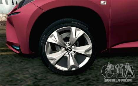 Lexus NX 200T v3 para GTA San Andreas traseira esquerda vista