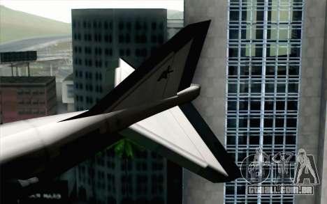 Hydra ADFX-02 Pixy para GTA San Andreas traseira esquerda vista