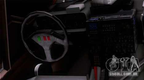 Shuttle v1 (wheels) para GTA San Andreas vista traseira