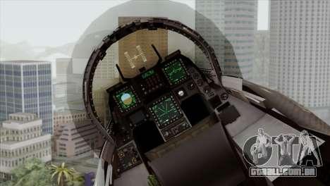 F-16C Block 52 para GTA San Andreas vista traseira