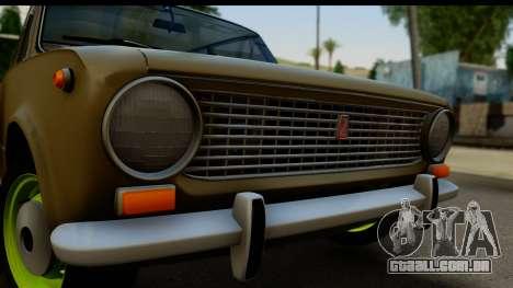 VAZ 2101 Estoque v3.2 para GTA San Andreas traseira esquerda vista