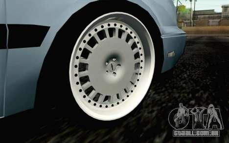 Volkswagen Golf Mk3 Eurolook para GTA San Andreas traseira esquerda vista