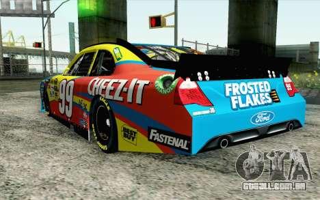 NASCAR Ford Fusion 2012 Short Track para GTA San Andreas esquerda vista
