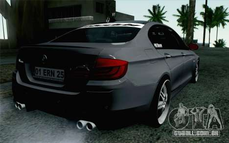 BMW 535i 2011 para GTA San Andreas esquerda vista