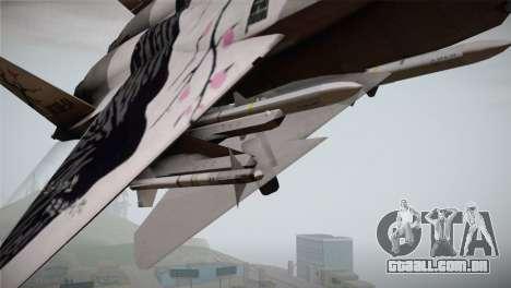 F-22 Raptor Colorful Floral para GTA San Andreas vista direita