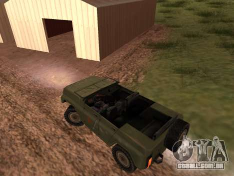 UAZ militar para GTA San Andreas vista direita