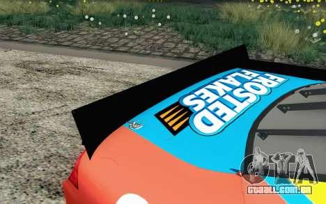 NASCAR Ford Fusion 2012 Short Track para GTA San Andreas vista traseira