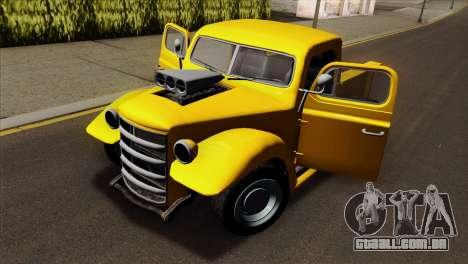 GTA 5 Bravado Rat-Truck para GTA San Andreas vista traseira