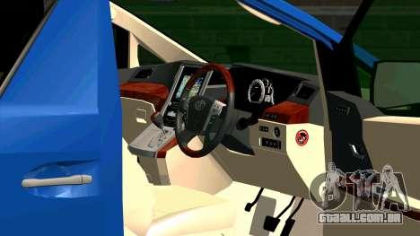 Toyota Alphard 350G para GTA San Andreas vista interior
