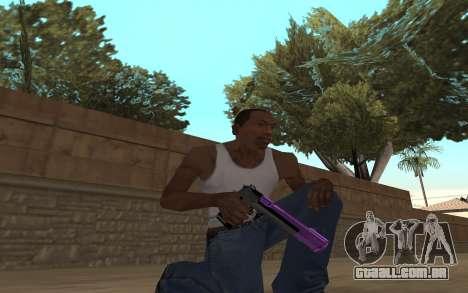 Purple Weapon Pack by Cr1meful para GTA San Andreas segunda tela