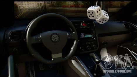Volkswagen Scirocco para GTA San Andreas vista interior
