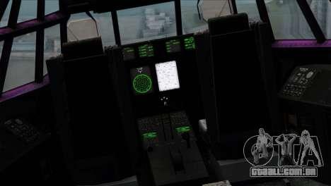 C-130B Indonesian Air Force (TNI AU) para GTA San Andreas vista traseira