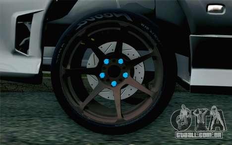 Nissan Silvia S15 SuperHero para GTA San Andreas traseira esquerda vista