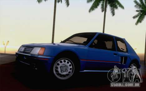 Peugeot 205 Turbo 16 1984 [HQLM] para GTA San Andreas vista interior