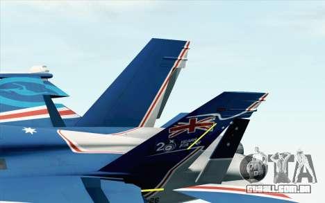 F-18D RAAF 20th Anniversary para GTA San Andreas traseira esquerda vista