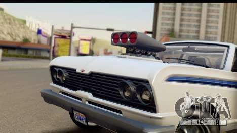GTA 5 Vapid Blade v2 IVF para GTA San Andreas traseira esquerda vista