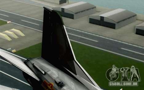 MIG-21MF Vietnam Air Force para GTA San Andreas traseira esquerda vista