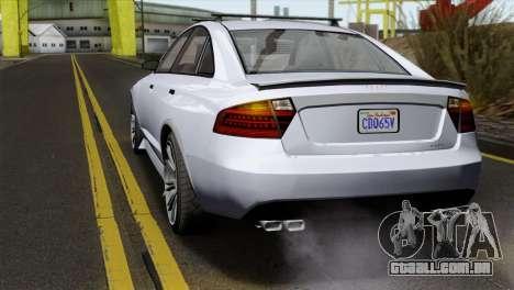 GTA 5 Obey Tailgater IVF para GTA San Andreas vista traseira