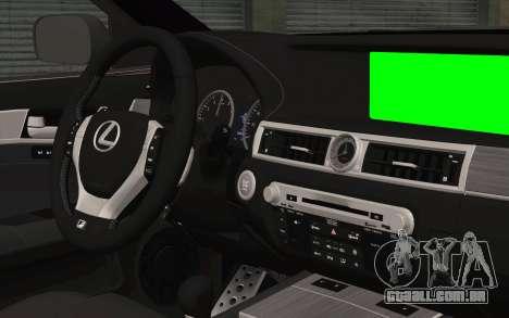 Lexus GS 300 para GTA San Andreas vista direita