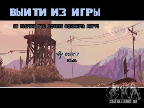 Menu HD para GTA San Andreas sétima tela