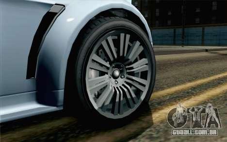 GTA 5 Dewbauchee Exemplar IVF para GTA San Andreas traseira esquerda vista