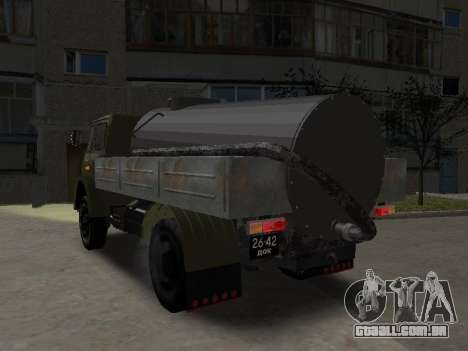 MAZ 503 encanador para GTA San Andreas traseira esquerda vista