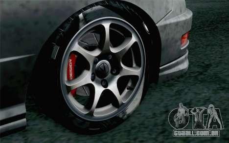Acura Integra Type R 2001 Stock para GTA San Andreas traseira esquerda vista