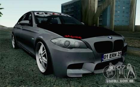 BMW 535i 2011 para GTA San Andreas