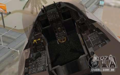 F-16 Fighting Falcon RNoAF para GTA San Andreas vista direita