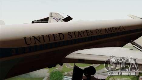 Boeing VC-137 para GTA San Andreas vista traseira