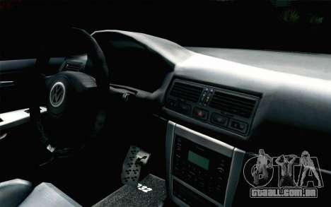 Volkswagen Golf Mk4 R32 Stance v2.0 para GTA San Andreas vista direita