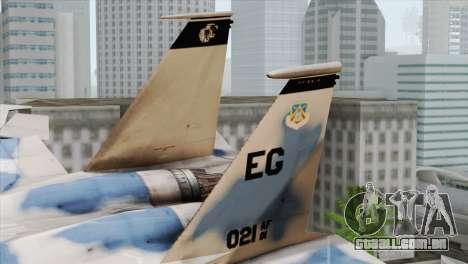 F-15E Artic Blue para GTA San Andreas traseira esquerda vista