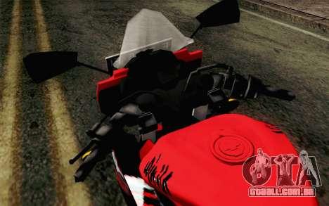 Kawasaki Ninja 250RR Mono Red para GTA San Andreas vista traseira