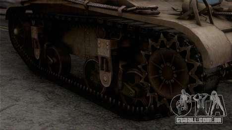 M2 Light Tank para GTA San Andreas vista direita