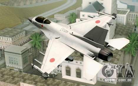 Mitsubishi F-2 Blue JASDF Skin para GTA San Andreas esquerda vista