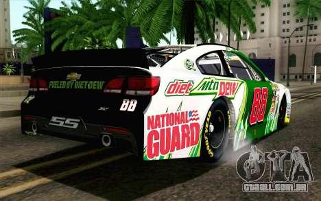 NASCAR Chevrolet SS 2013 v4 para GTA San Andreas esquerda vista