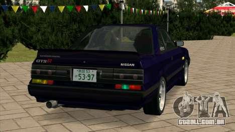 Nissan Skyline GTS-R (HR31) para GTA San Andreas traseira esquerda vista