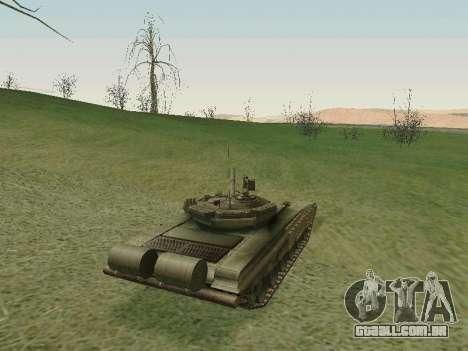 Tanque T-72B para GTA San Andreas vista direita