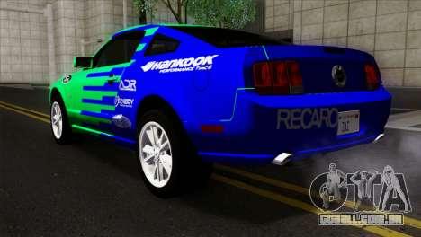 Ford Mustang GT Wheels 2 para GTA San Andreas esquerda vista