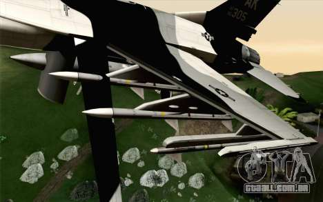 F-16C Fighting Falcon Aggressor Alaska BlackGrey para GTA San Andreas vista direita