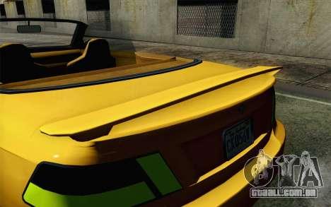 GTA 5 Ubermacht Sentinel Coupe para GTA San Andreas vista direita