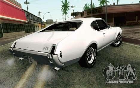 Oldsmobile 442 Férias Coupé 1969 FIV АПП para GTA San Andreas esquerda vista