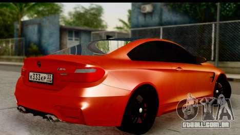 BMW M4 para GTA San Andreas esquerda vista
