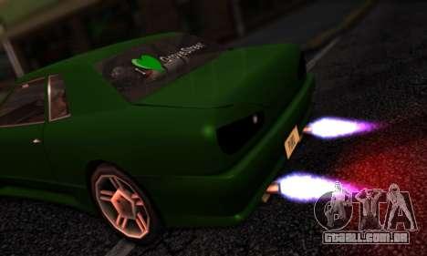 Elegy I Love GS v1.0 para GTA San Andreas vista traseira